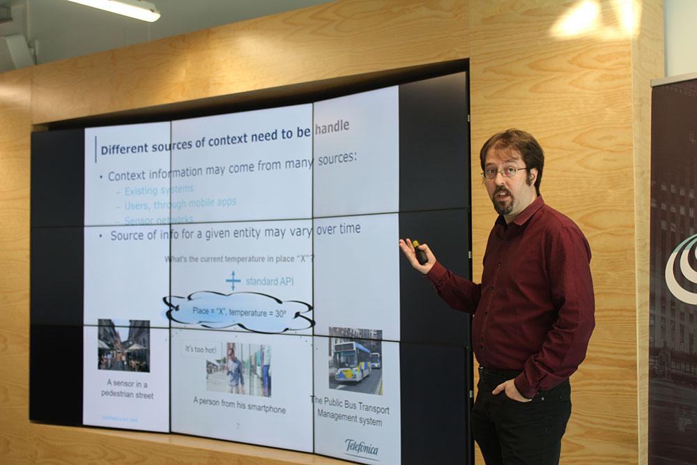 Fermín Galán en taller avanzado para expertos en FIWARE Sevilla